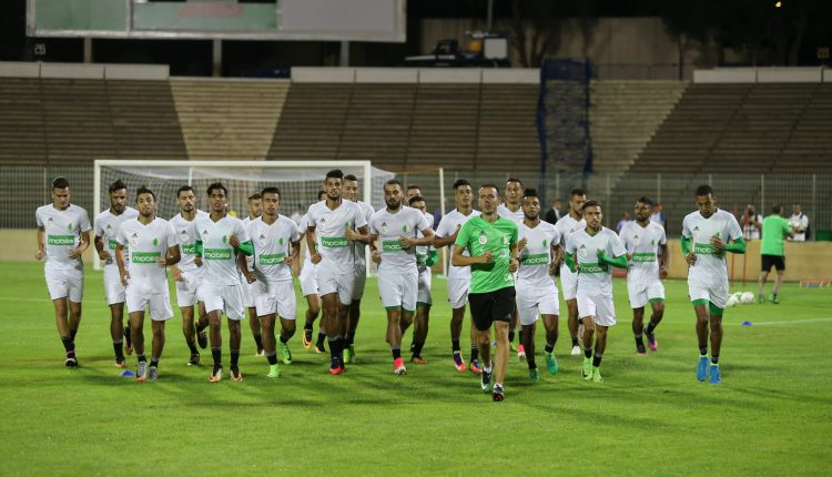 Ultime séance d'entraînement au stade Hamlaoui