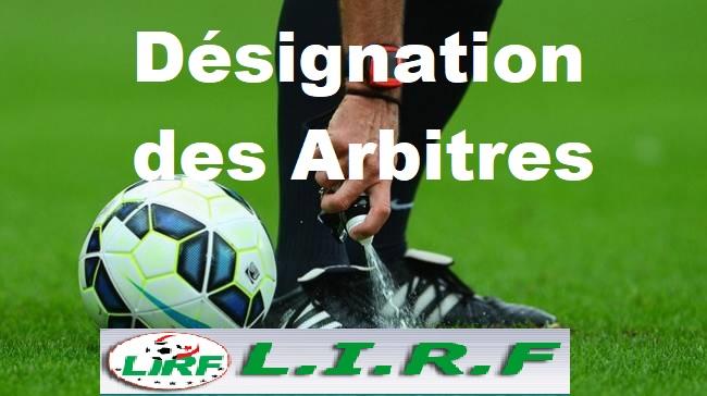 DÉSIGNATION DES ARBITRES POUR LES MATCHES DE LA 30E JOURNÉE DES CHAMPIONNATS INTER-RÉGIONS