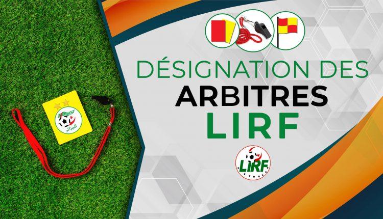 DÉSIGNATION DES ARBITRES POUR LES MATCHES DE LA12E JOURNÉE DES CHAMPIONNATS INTER-RÉGIONS